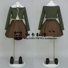 Dangan Ronpa Danganronpa Chihiro Fujisaki Cosplay Conjunto Completo de Disfraces de Halloween de la Muchacha de Las Mujeres Tops + falda + camisa + empate