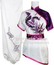 Customize Chinese wushu uniform Kungfu clothing Martial arts suit taolu outfit embroidered for men boy children girl women kids