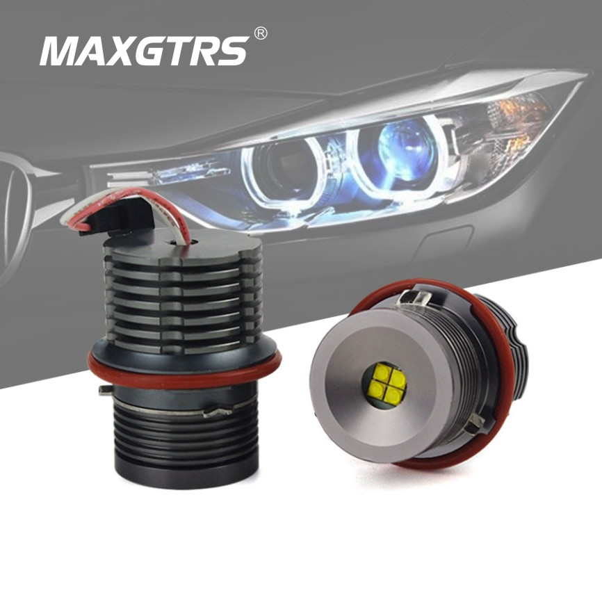 1 Set 2*32W 64W CREE Chip LED Marker Angel Eyes Retail Box 7000K White/Blue/Red For BMW E39 E53 E60 E61 E63 E64 E65 E87 цена и фото