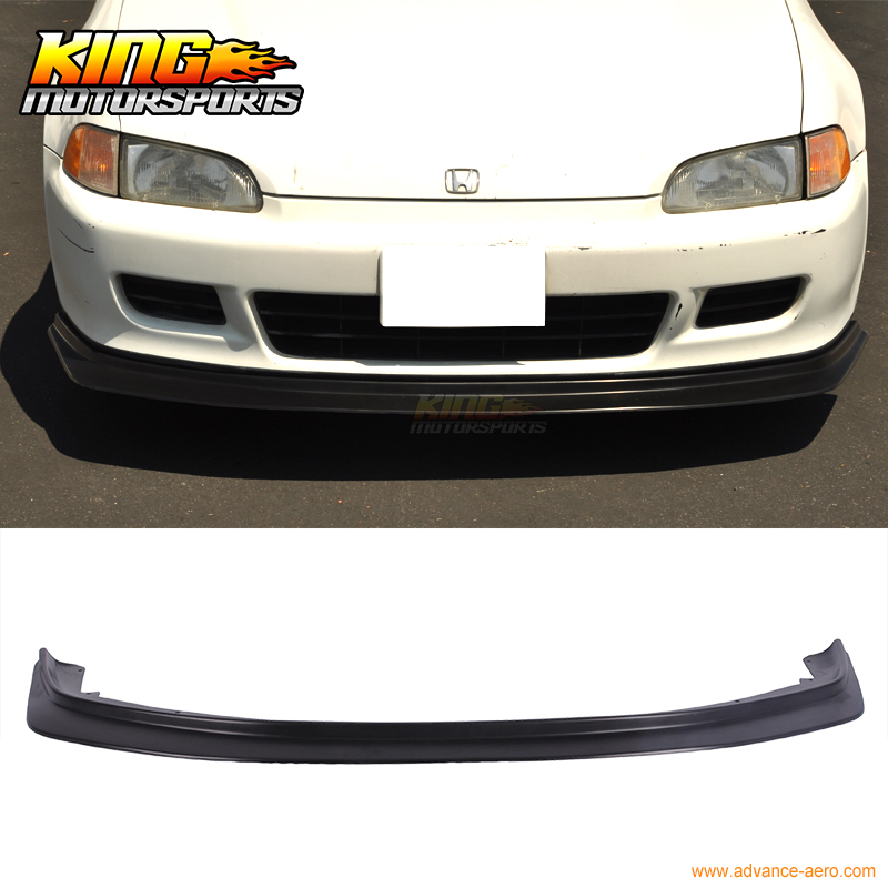 Fits 92 93 94 95 Honda Civic EG 2Dr 3Dr PU Front Bumper Lip Bodykit BYS Style