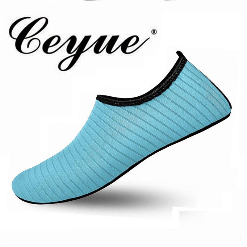 Ceyue Frauen Wasser Schuhe Große Größe Waten Schuhe Slip Auf Strand Aqua Sport Fluss Schnell Trocknend Tauchen Schuhe