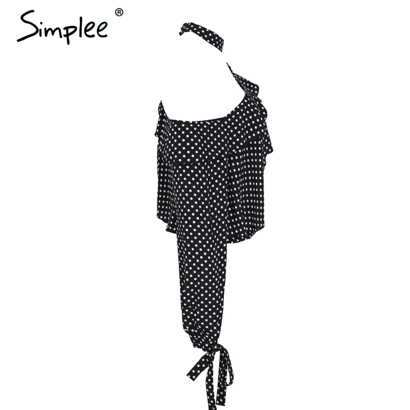Hot Sale Fashion Sexy Black Wave Dot Women Shirt