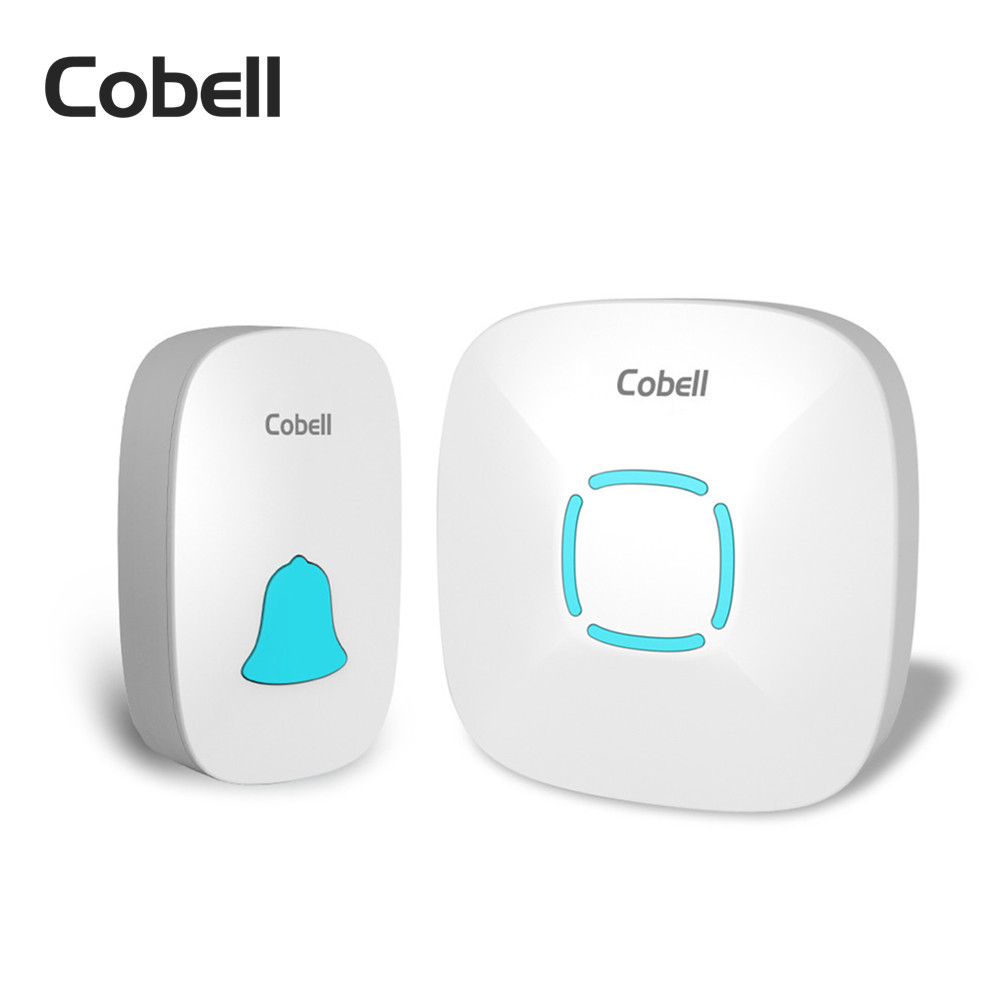 Cobell IP44 Waterproof Wireless Door Bell 280M Range With 36 Chimes Tone 4-Level Volume Prevent Signal Interference Door Ring forecum 5 5f smart wireless doorbell waterproof with receivers 36 chimes battery door bell button 100m range for home office