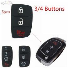 5 قطعة 3 أزرار 4 أزرار سيارة مفتاح تحكم عن بعد غطاء قذيفة المطاط لوحة مفاتيح لشركة هيونداي HB20 Ix35/ix45 سانتا في 2013-2014