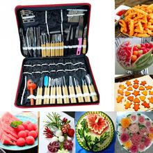 High Quality 80Pcs Portable Stainless Steel Vegetable Fruit Food Chef Burin Carving Chiseling Tool Kit With Bag