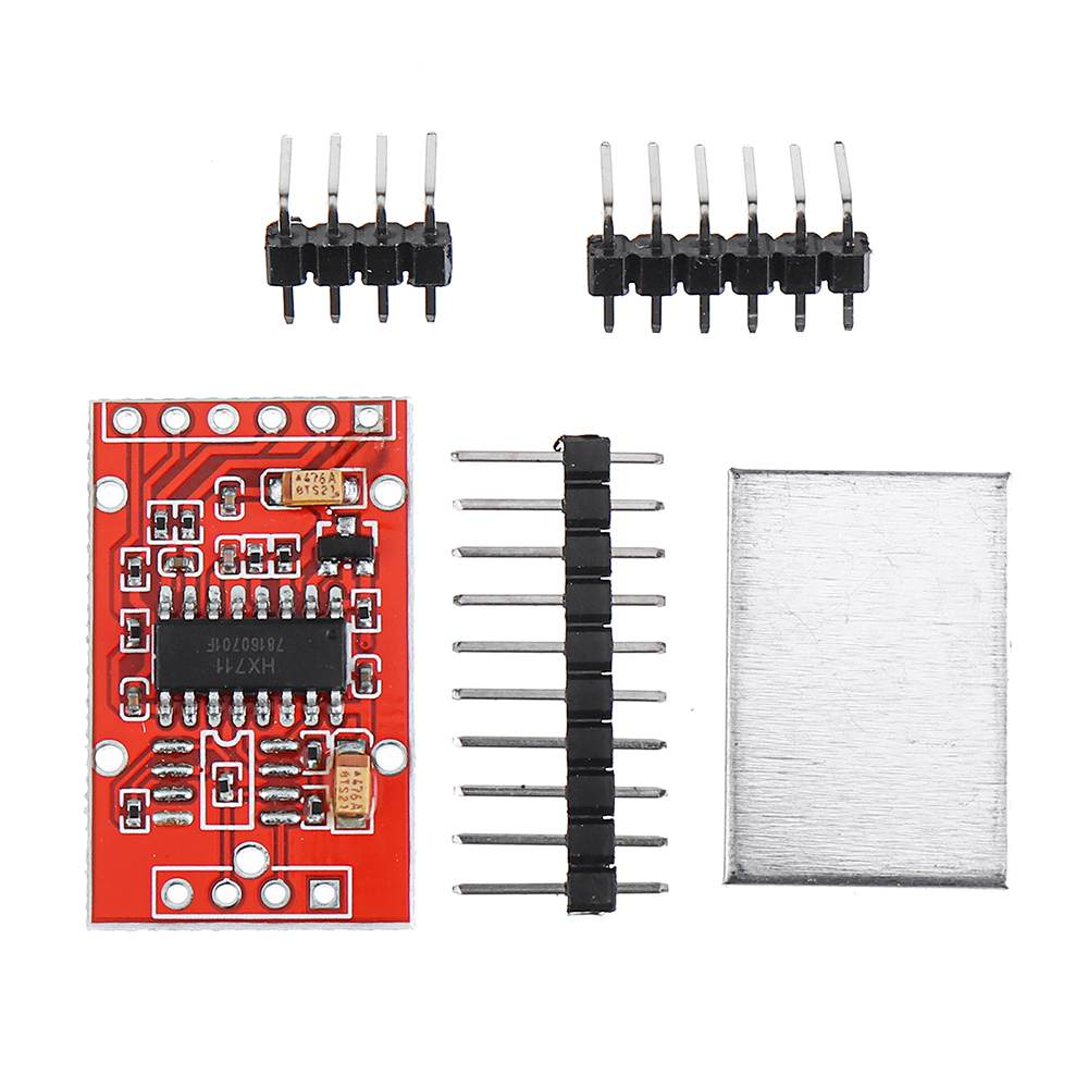 1PCS HX711 Dual-channel 24-bit A/D Conversion Weighing Sensor Module With Metal Shied