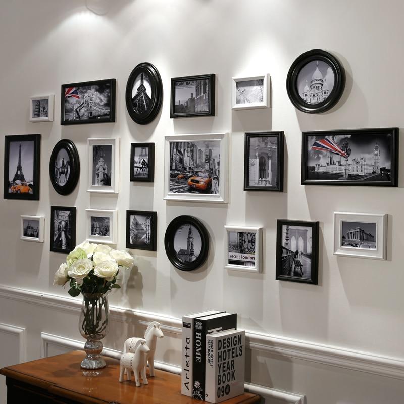 5 Colores Blanco/Negro Barato marco de Fotos, Marco Redondo Marco De ...