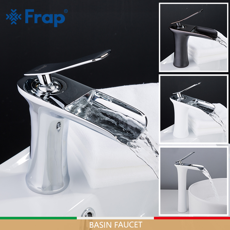 FRAP Basin Faucets Waterfall Faucet Basin Mixers Sink Taps Bathroom Faucet Water Tap Rainfall Mixer Torneira Do Anheiro