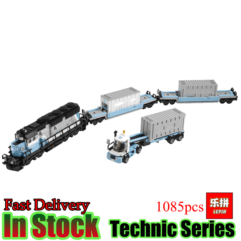 LEPIN 21006 Technic 1234pcs Container Train Compatible 10219 building  Blocks Bricks kits educational fun toys for children lepin 21006 compatible builder the maersk train 10219 building blocks policeman toys for children