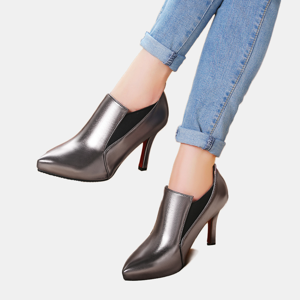 fashion ladies high heel platform red pumps pointed toe slip on stiletto shining evening party nightclub shoes for women size 44 in Women 39 s Pumps from Shoes