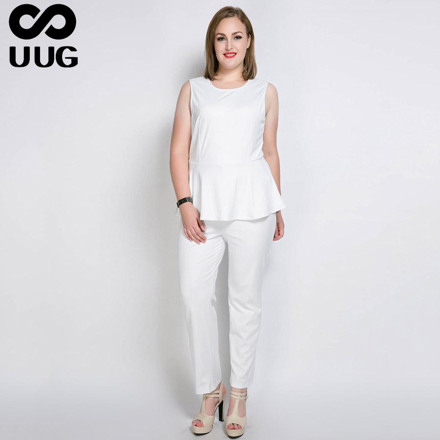 b26d032dacda7 L-7xl 6xl Plus Size Jumpsuit for Work Women Rompers Overalls OL Office Lady  Elegant