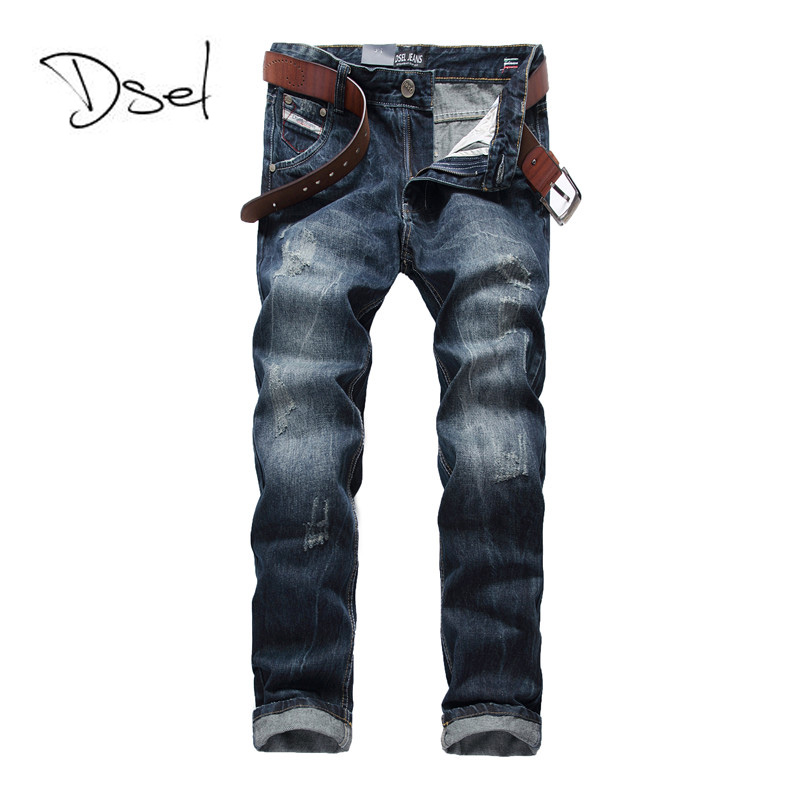 Ripped jeans for men high quality light blue color jeans men size 40 38  brand design - Online Buy Wholesale Ripping Jeans From China Ripping Jeans