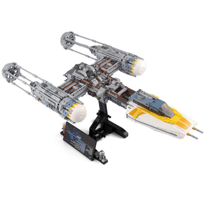 2019 Star Wars War X Wing Y-wing Fighter STARWARS Building Blocks Sets Bricks Classic Model Kids Toys Compatible Lepinng75181