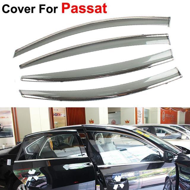 4pcs Window Visors Sun/Rain Shield Guard For Volkswagen VW Passat B7 Sedan 2012-2015 Sun Rain Shield Car Styling Awnings Shelter