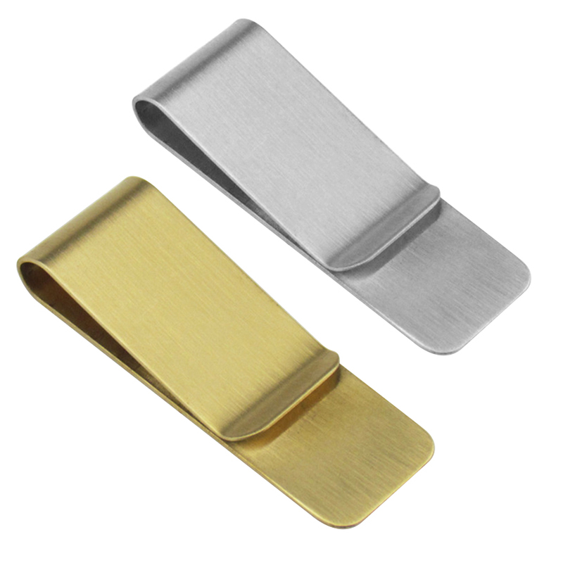 1PCS Fashion Stainless Steel Metal Money Clip Credit Card Cash Clamp Holder Wallet For Men Women Party Wedding Favors