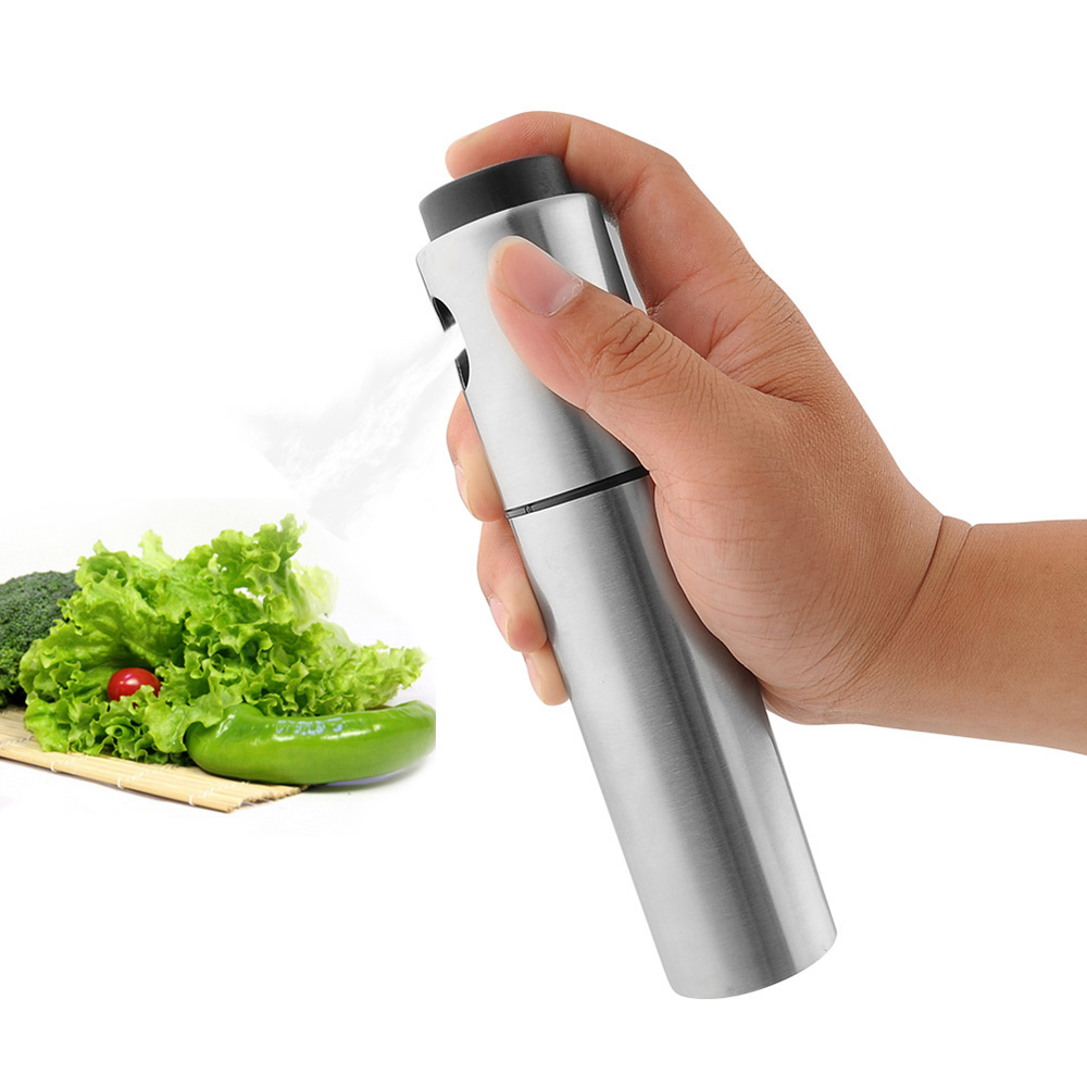 Portable Stainless Steel Olive Oil Sprayer Cruets Misters Pump Bottle Barbecue Cooking Tools Kitchen Accessories