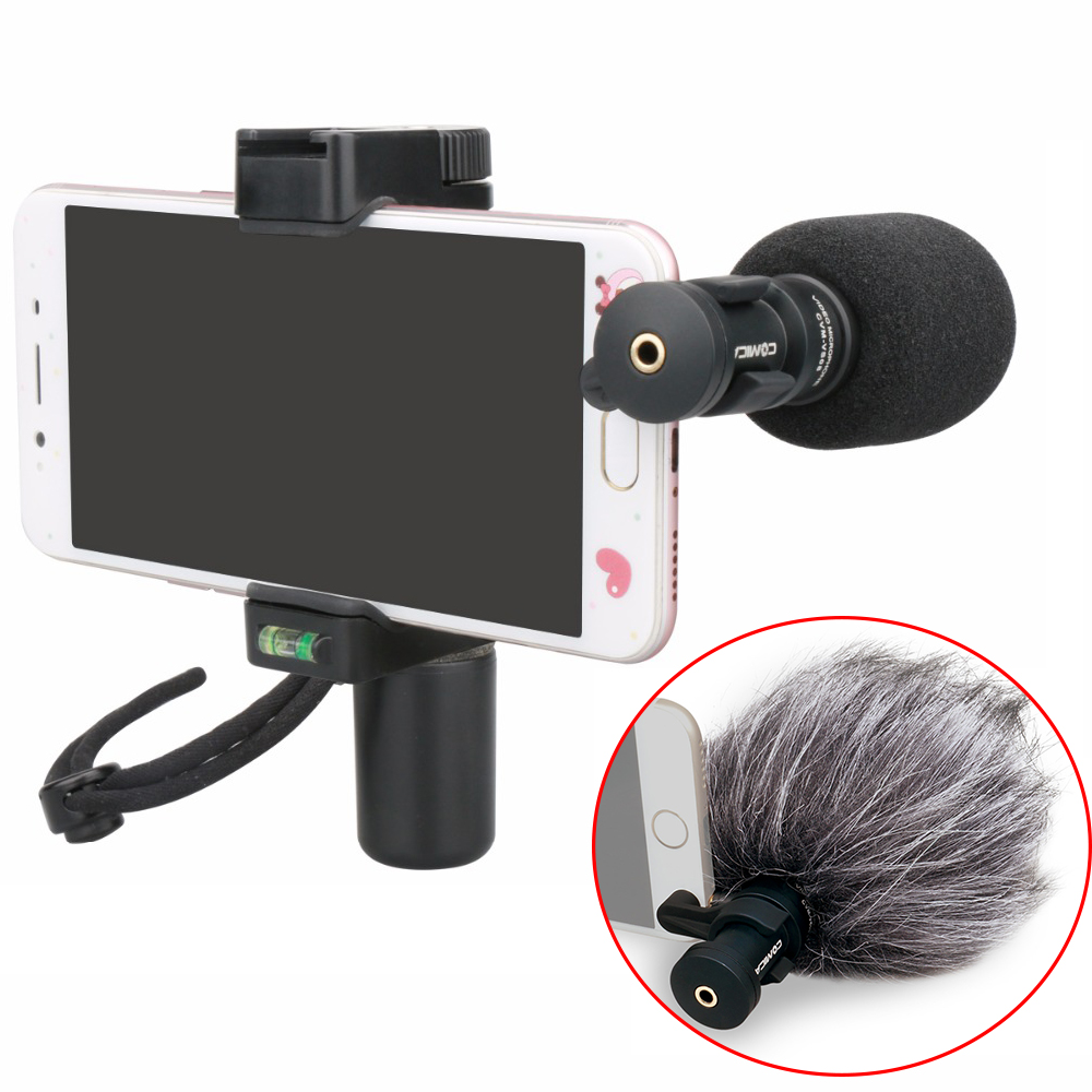 Ulanzi COMICA CVM-VS08 Professional Directional Condenser Video Microphone Shotgun Mic with deadcat windshiled for iPhone Huawei professional directional stereo microphone 1 x cr2