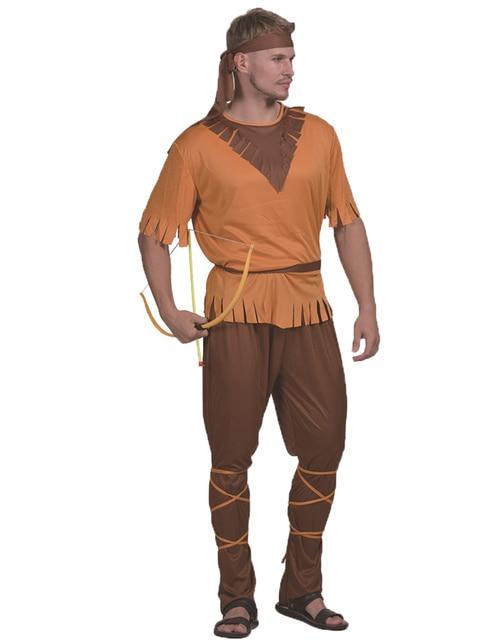 d9501c0c67a Robin Hood Outlaw Archer Swordsman Costumes Male Cosplay Adult Hero Top  Pants Headpiece Suit Mens Halloween Costumes