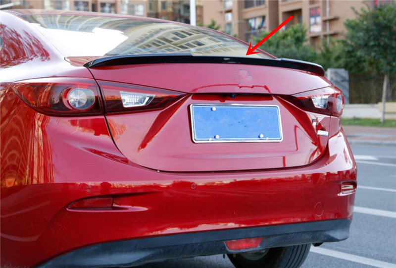 For <font><b>mazda</b></font> <font><b>6</b></font> atenza <font><b>2014</b></font> 2015 2016 2017 2018 car decoration rear <font><b>spoiler</b></font> high quality ABS material roof tail wing image