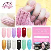 Che Gel Sweater Match Embossed Nail Gel Polish Micro Carved Gel Varnish Soak Off Lacquer Lamp DIY Thick Gel Nail Polish Manicure