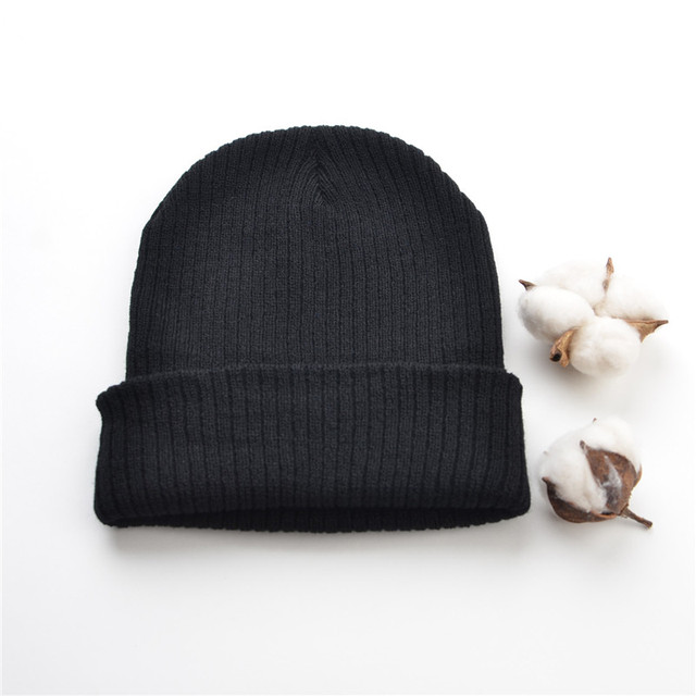 1e0a89327 US $3.12 5% OFF|Man Winter Hats For Women Beanie Cap Unisex Cuffed Plain  Skull Beanie Toboggan Knit Hat Very Soft-in Skullies & Beanies from Apparel  ...