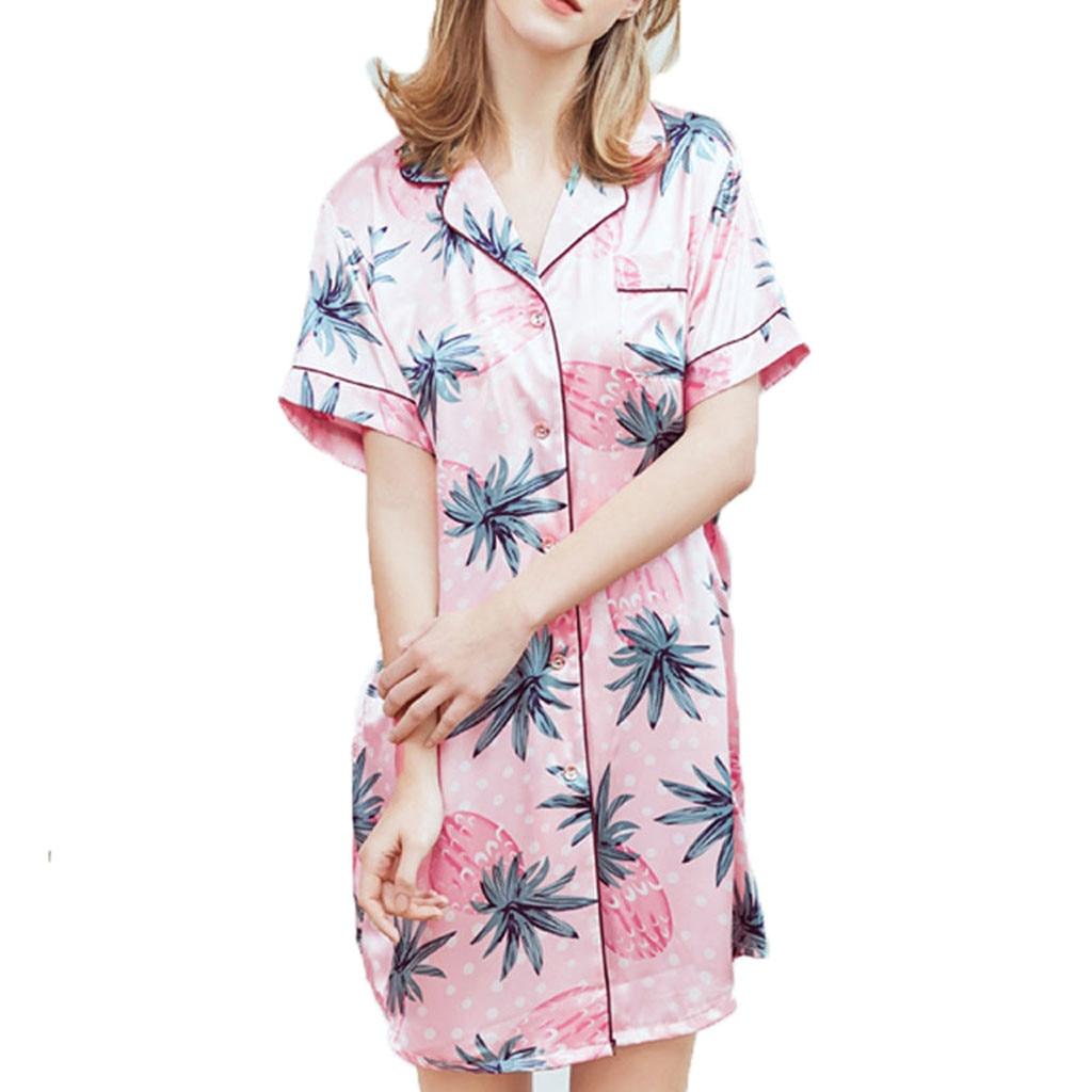 2019 NEW HOT Woman Summer Sleepwear Sexy Home   Nightgowns     Sleepshirts   Ночная сорочка на дому Wholesale T3