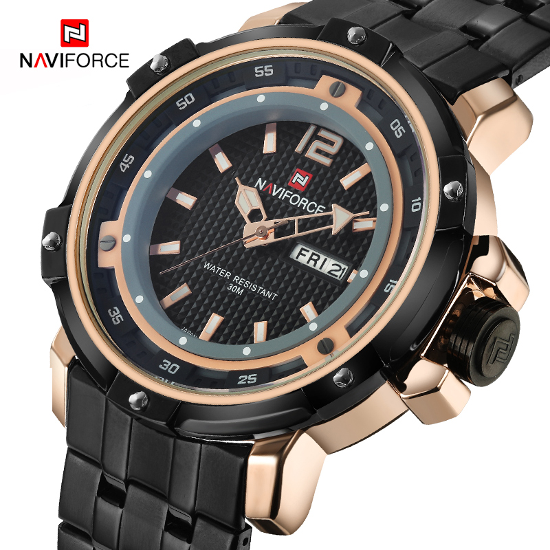 NAVIFORCE Men's Brand Fashion Casual Quartz Watches Men Waterproof Army Military Sports Wristwatches Male Relogio Masculino
