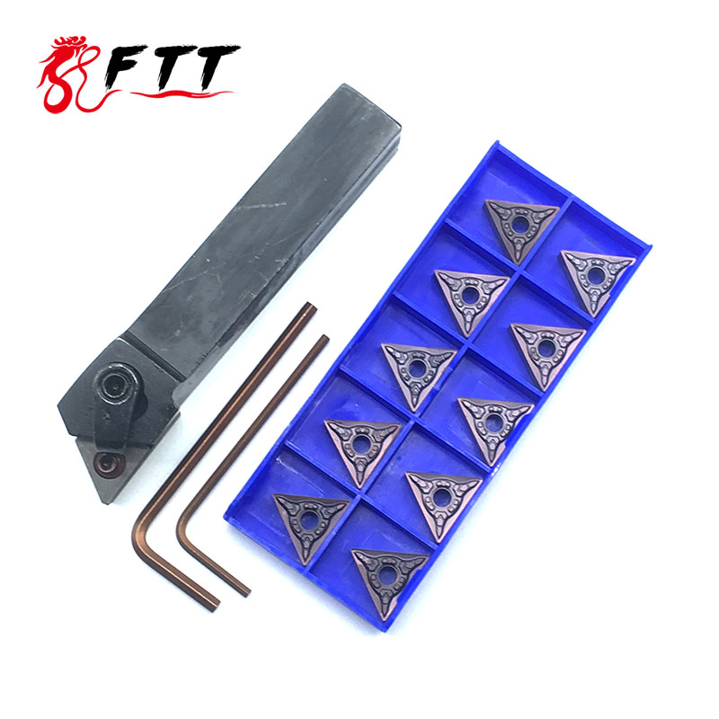 1pcs MTJNR2020K16 MTJNR1616H16 93 Degree MTJNR Turning Tool Holder Metal 10PCS TNMG160404 Carbide Inserts Lathe Cutting Tools