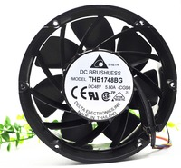 for delta THB1748BG 48V 5.80A 170X170X56MM 607.0 CFM round metal frame communications equipment cooling fan