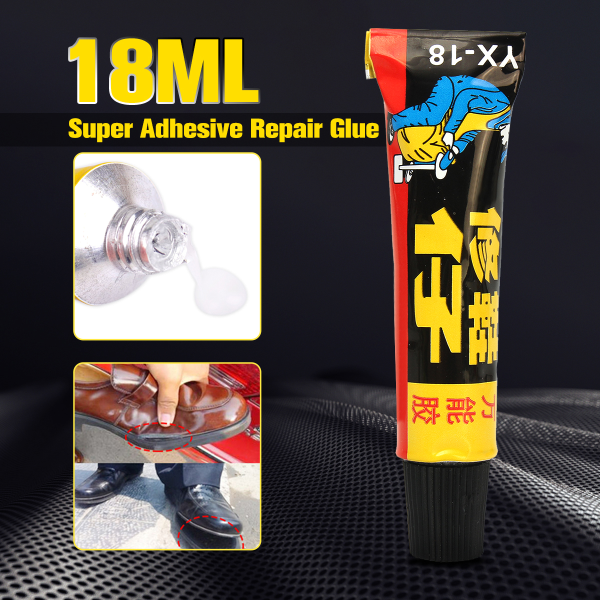все цены на MTGATHER 18ml Super Adhesive Repair Glue For Shoe Leather Rubber Canvas Tube Strong Bond