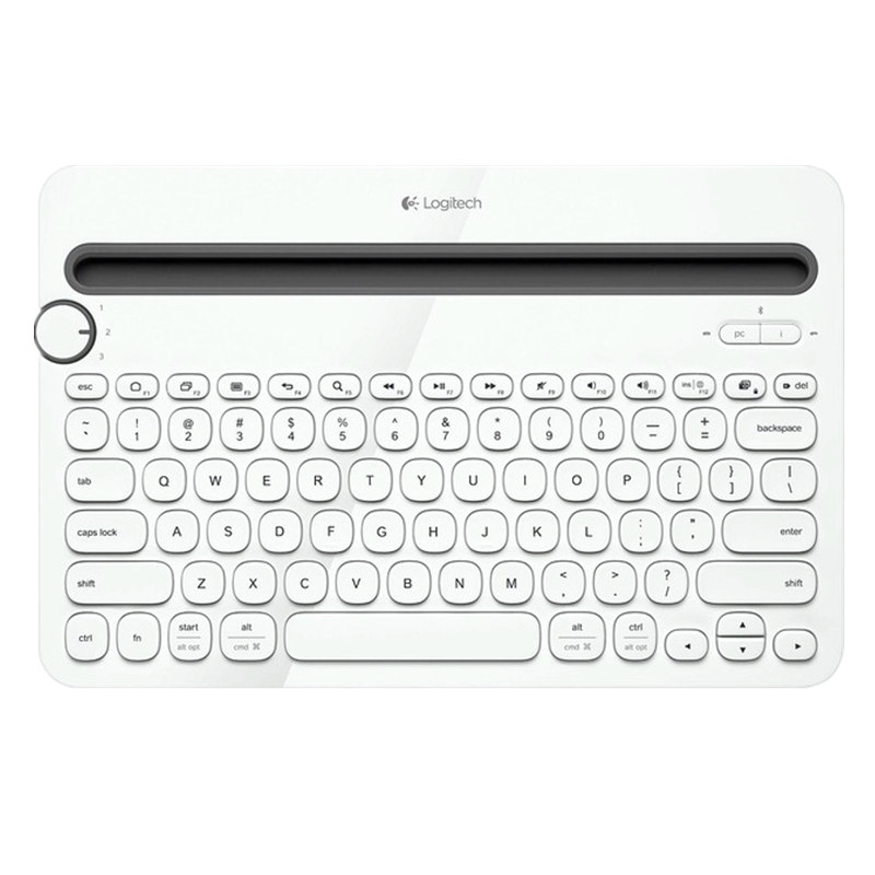 Logitech Bluetooth Multi-Device Keyboard K480 for Computers, Tablets and Smartphones expanding stand and grip for smartphones and tablets chakra