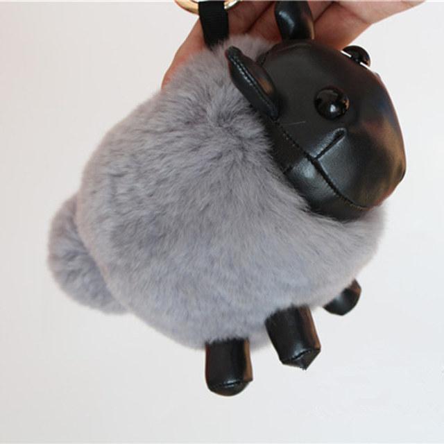 Monstruo encantos llavero karlito Real fur mapache llaveros Mullido perfecto mochila personalidad Pompón bolsa colgante