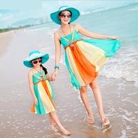 High Quality Matching Mother Daughter Roupas Moleton Mae E Filha Family Clothing Sets Dress Girls Dresses