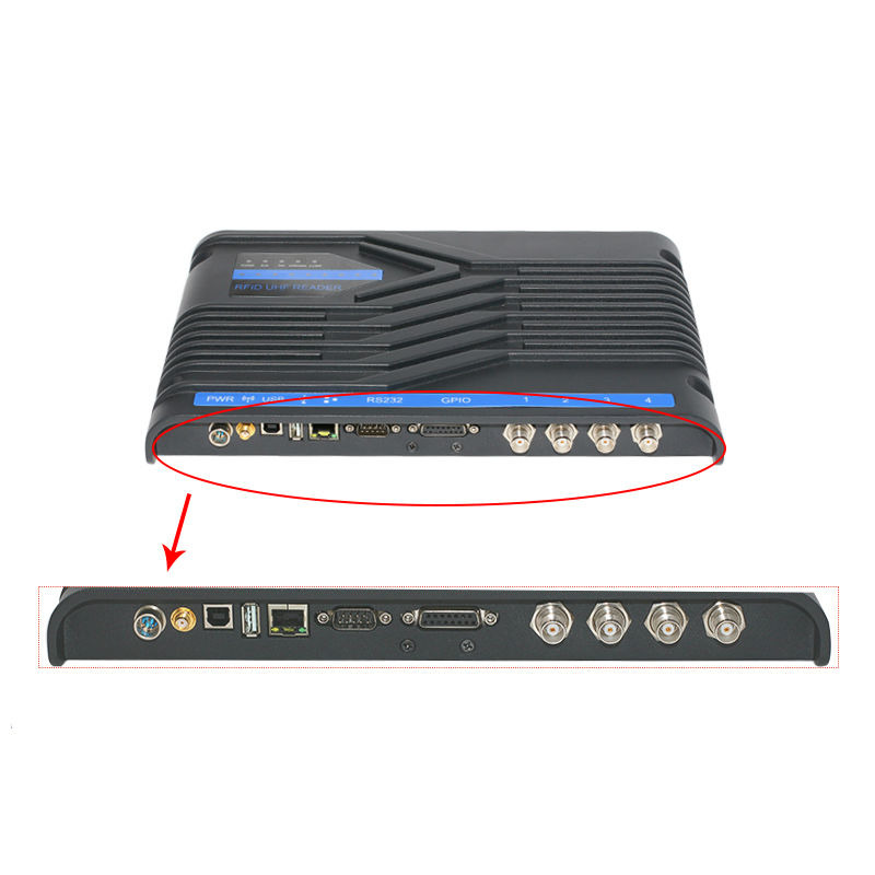 Impinj R2000 uhf reader with 2 port with RS485 TCP IP interface provide free English SDK