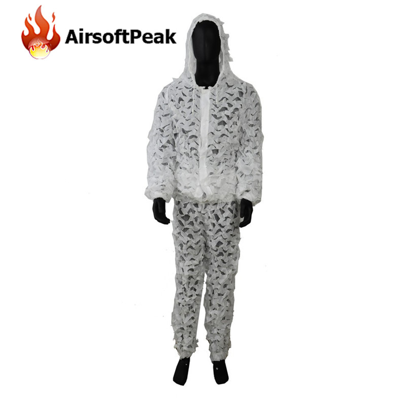 buy tactical ghillie suits outdoor hunting snow white set clothes airsoft. Black Bedroom Furniture Sets. Home Design Ideas