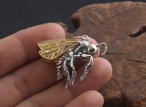 Image 5 - Echte 925 Zilveren Bee Hanger Ketting 925 Sterling Busy Bee Hanger Ketting Vintage Bohemen Ketting