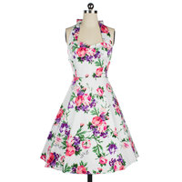 2016 Women Summer 50s 60s Vintage Audrey Hepburn Pin Up Dresses Rockabilly Retro Floral Print Casual