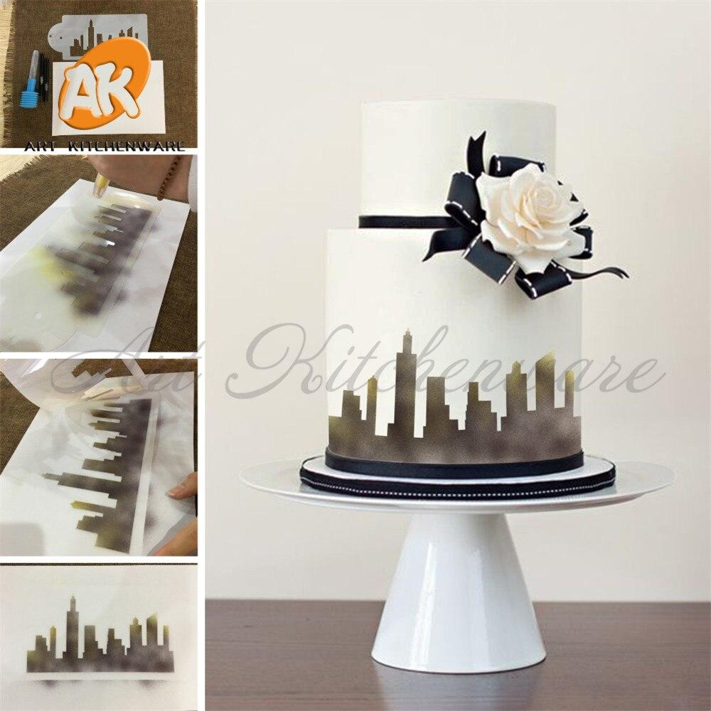 New York Skyline Torta za torte za kolače Bočna šablona Fondant - Kuhinja, blagovaonica i bar - Foto 6