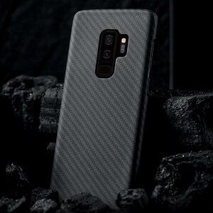 Image 2 - 炭素繊維ケース三星銀河S20超S10プラスS8 S9プラス注10注9 20マットアラミド繊維超薄型携帯電話のカバー
