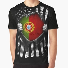 193654c1 All Over Print 3D Women T Shirt Men Funny tshirt Portuguese American Flag  USA Portugal Graphic