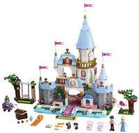 Disney Toys Cinderella Romantic Castle Building Blocks Princess Dream House Bricks Toys Birthday Gift For Childrens