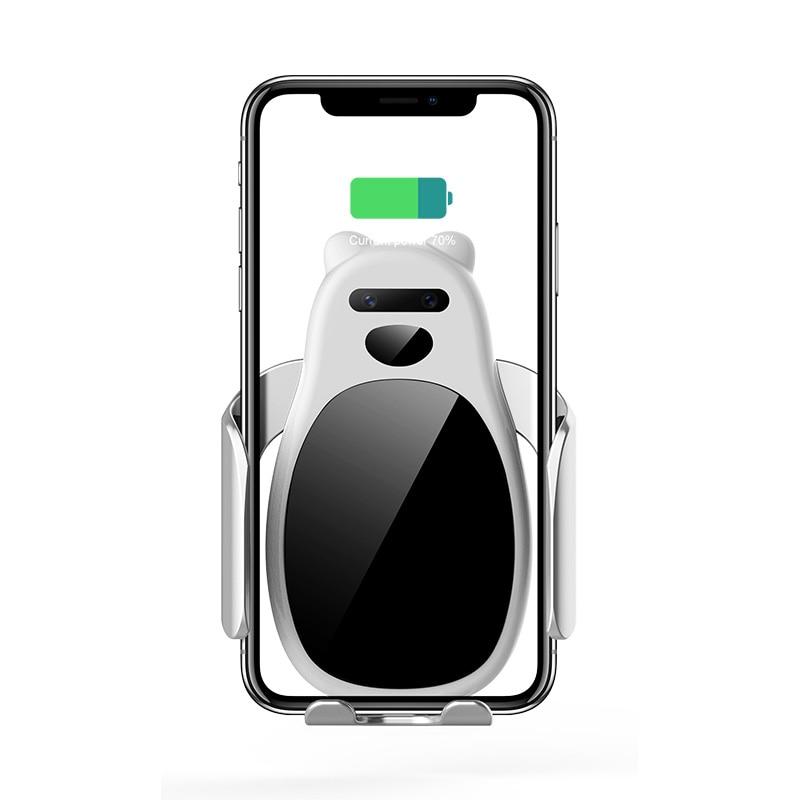 15 W Drahtlose Auto Ladegerät Für Iphone Smartphone Automatische Spann Schnelle Lade Telefon Halter Halterung In Auto Kunden Zuerst