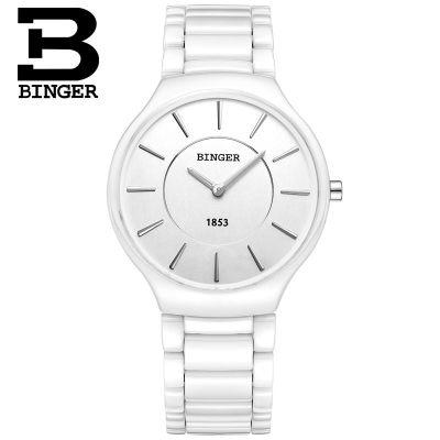 Binger Newest Wood Watch for Men with Week Display Date Quartz Watches Two-tone Wooden Drop Shipping two tone drop shoulder sweatshirt