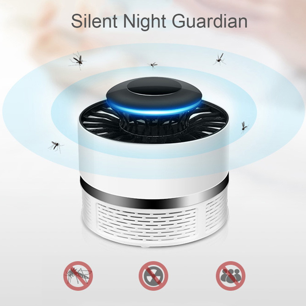 Household Mute Safety Photocatalyst Mosquito Killer Lamp USB NO Radiation Rechargeable AntiMosquito Repellent Light