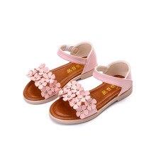 Nouveau 2017 Été Bébé Filles Sandales Usage Infantile Fleurs Sandales Enfants Plage Chaussures Fond Mou Femmes enfants de princesse sandales