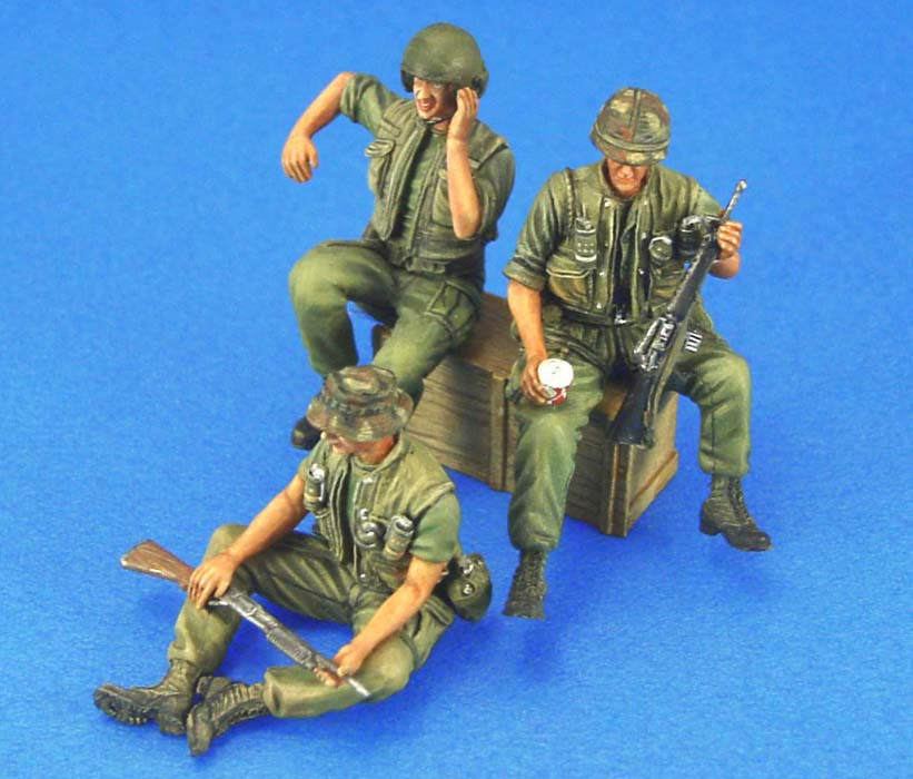 1/35 Resin Figure Model Kits US AFV Crew Set  Unassembled Unpainted