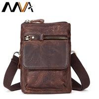 MVA Messenegr Bags Lether Men Shoulder Bags Brand Genuine Leather Men Bag Vintage Crossbody Bag Phone