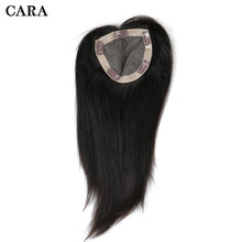 "Straight Brazilian Virgin Hair Clip In Toupee Hair For Women Human Hair 5""x5"" inch Natural Color 1 Piece Free Shipping CARA(China)"