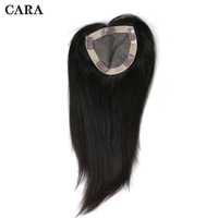 Straight Brazilian Virgin Hair Clip In Toupee Hair For Women Human Hair 5x5 inch Natural Color 1 Piece Free Shipping CARA