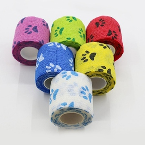 Image 2 - Açık bandaj ilk yardım kiti karikatür yapışkanlı elastik bandaj nefes alabilen bant renkli Pet bandaj